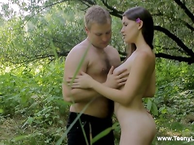 These horny teens are fucking like present day Adam and Eve doing it right on the ground in a beautiful shady grove not far from a small murmuring stream. Their every move is filled with real love and passion and they totally give themselves into the hands of Eros making one another cum multiple times. Two young bodies on the grass entangled in a horizontal dance of desire – this is the most amazing romantic fuck you'll ever see.